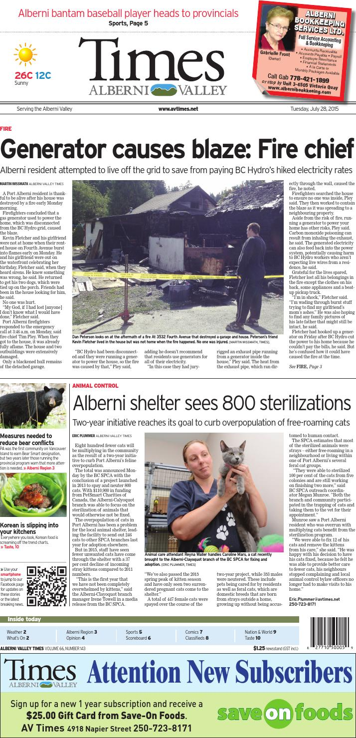 Alberni Valley Times, July 28, 2015 by Black Press Media Group - issuu