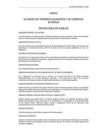 Glosario de t rminos aduaneros y comercio exterior by for Agencias de comercio exterior