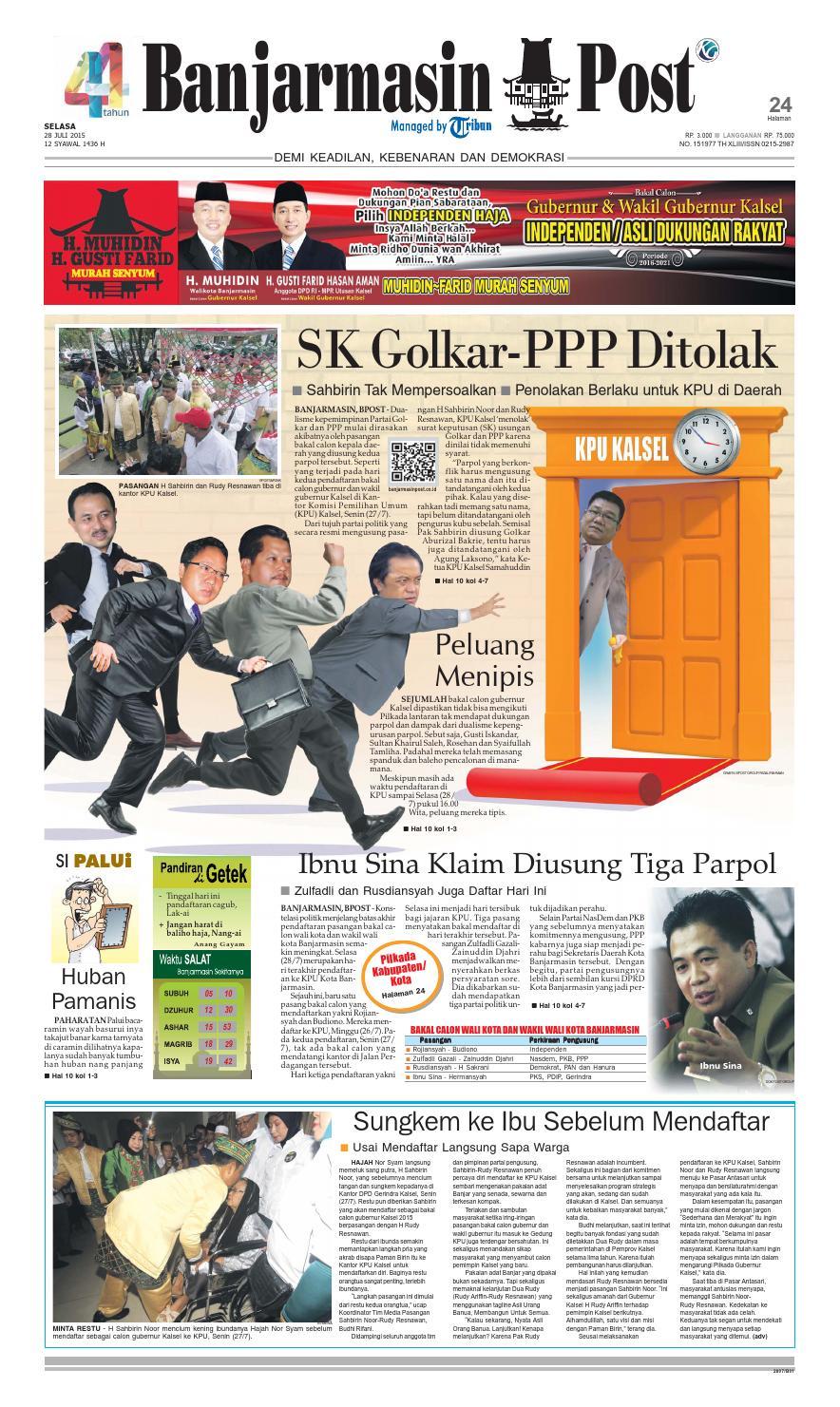 Banjarmasin Post Selasa 28 Juli 2015 By Banjarmasin Post Issuu