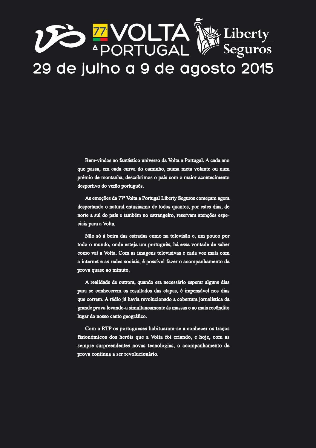 06ad9ce03b 77ª Volta a Portugal em Bicicleta Liberty Seguros by Podium . Events - issuu