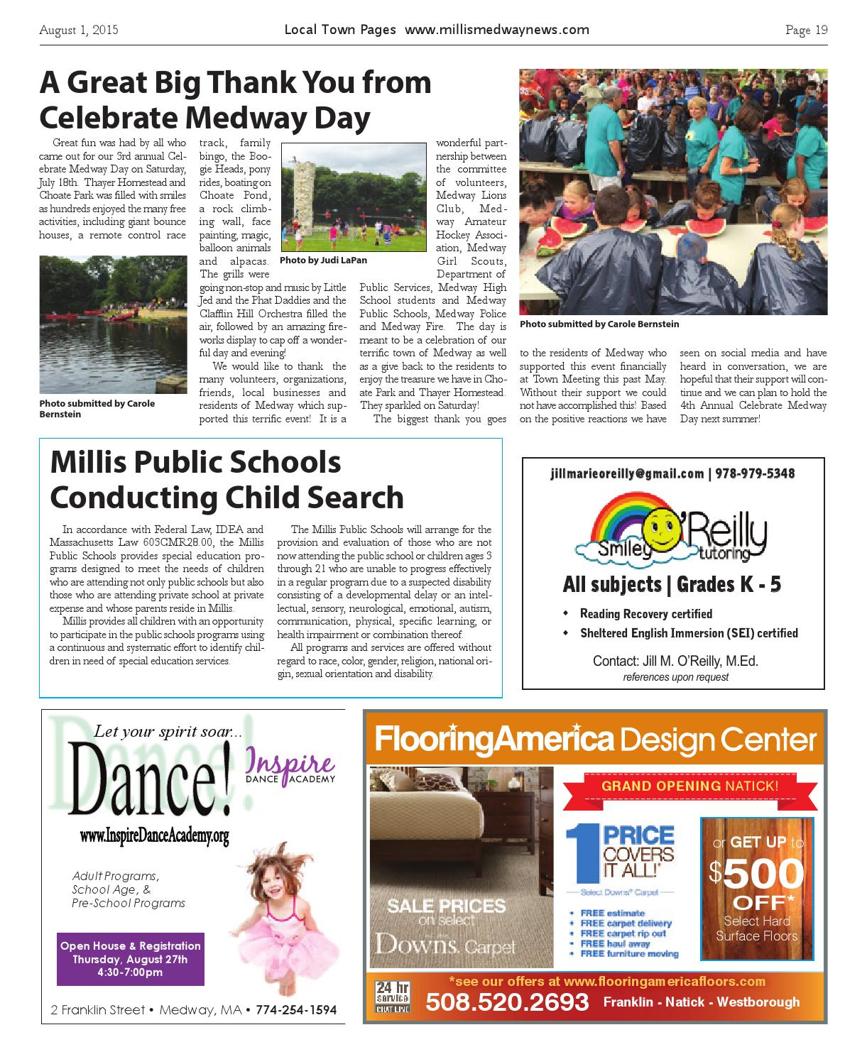 Medway Millis August 2015 By Local Town Pages Issuu