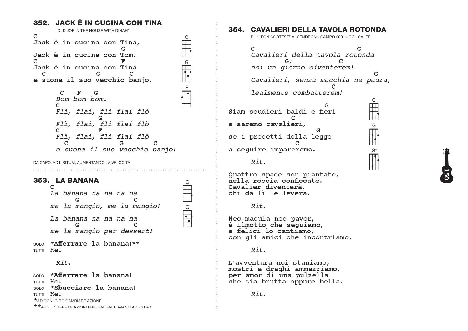 nuovo SCANZONIERE per Ukulele by Alex Cendron - issuu