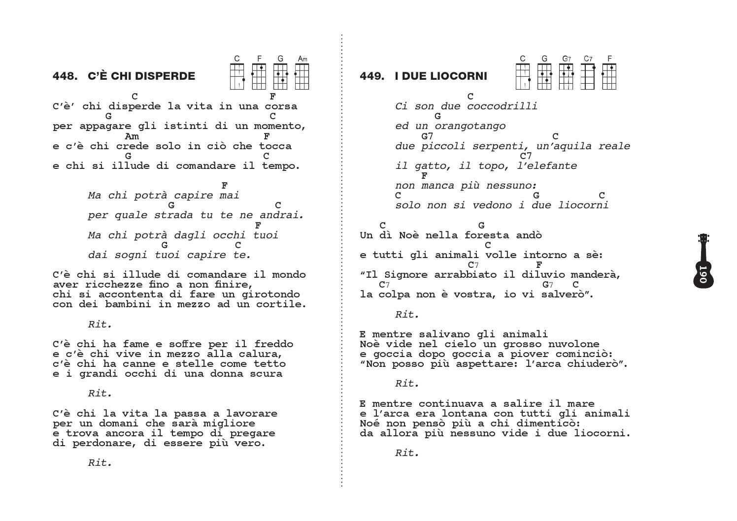 Nuovo scanzoniere per ukulele by alex cendron issuu - Gemelli diversi alla goccia testo ...