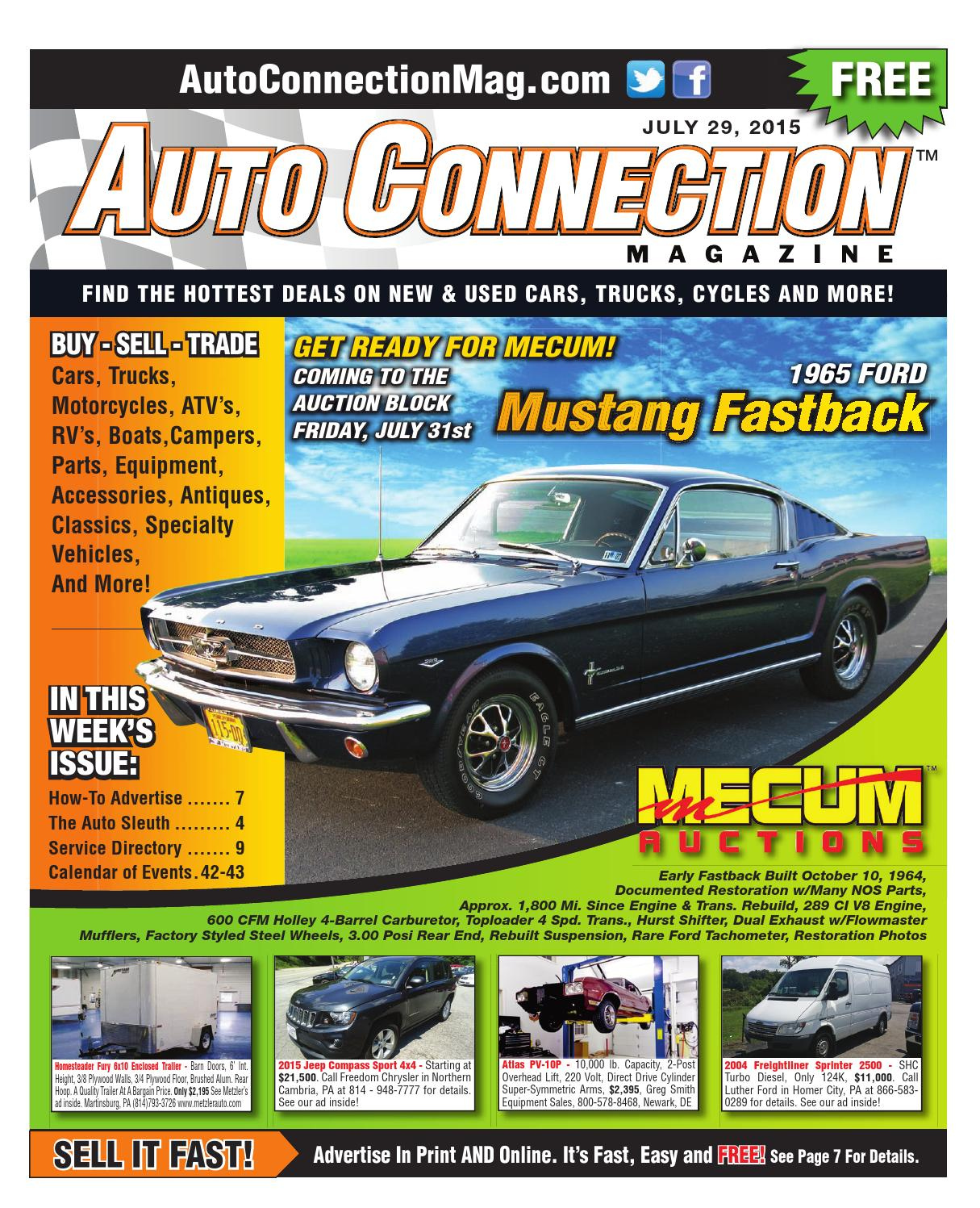 07 29 15 Auto Connection Magazine By Issuu 1961 Dodge Seneca Dart Wiring Diagram