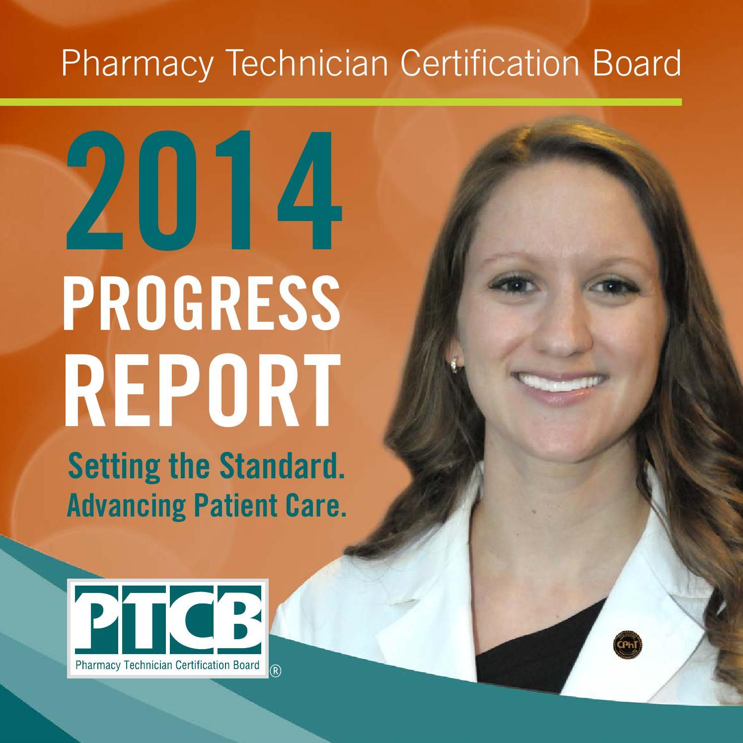 Pharmacy Technician Certification Board 2014 Annual Progress Report