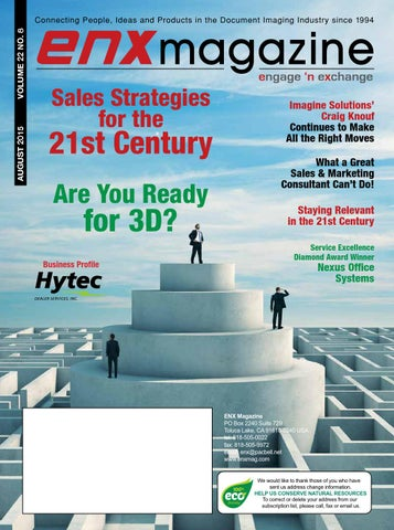 ENX August 2015 Issue by ENX Magazine - issuu