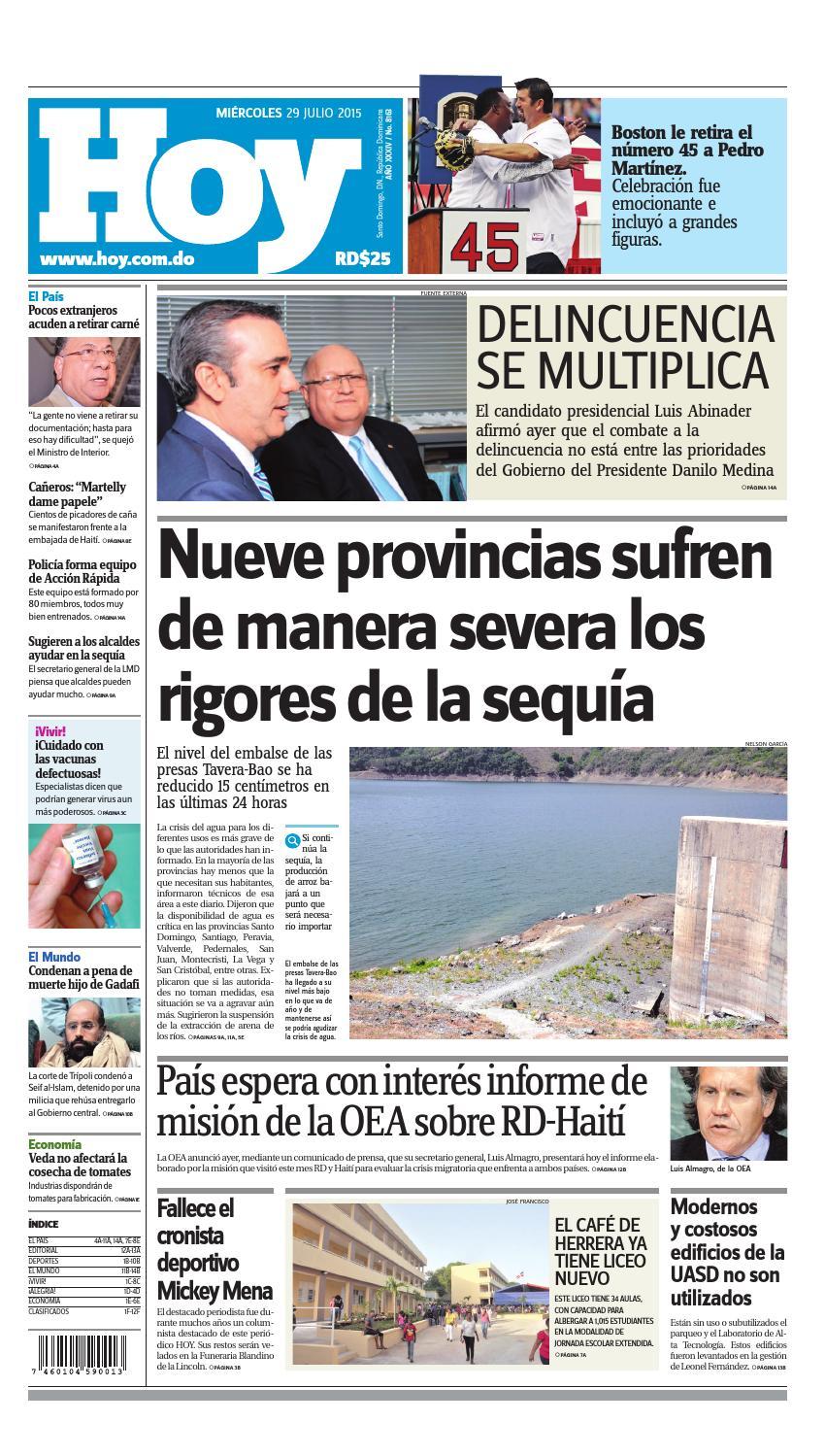 low priced 44526 e3b54 Periódico miércoles 29 de julio, 2015 by Periodico Hoy - issuu