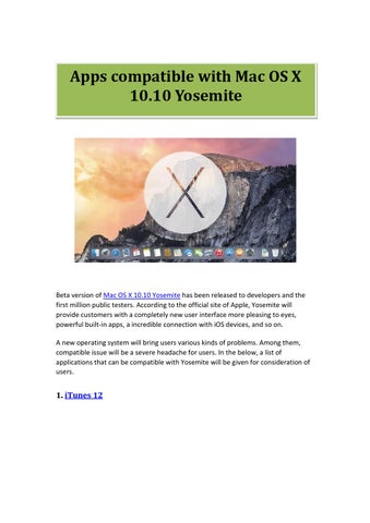 Office for mac compatible with yosemite os