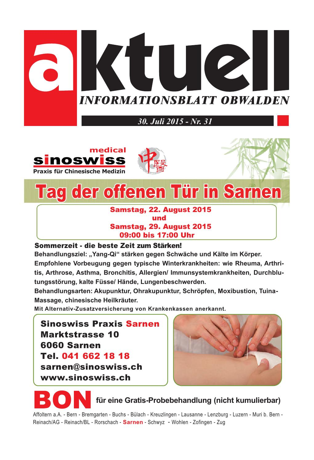 Aktuell Obwalden 31-2015 by Aktuell Obwalden AG - issuu