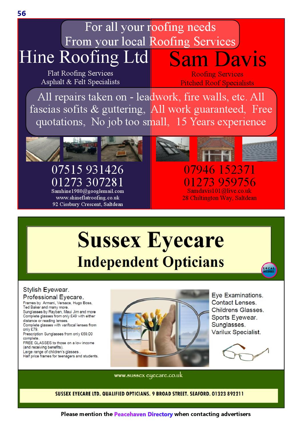 Peacehaven directory august 2015 on line edition by Anne