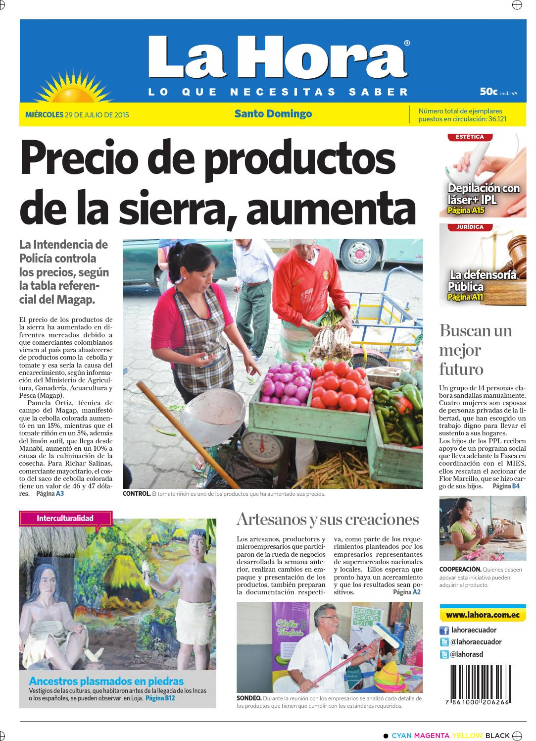 Santo Domingo 29 julio 2015 by Diario La Hora Ecuador - issuu d46589dc33a60