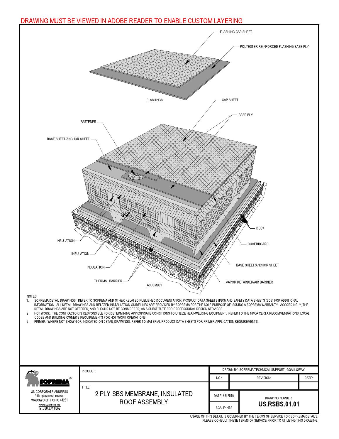 Us Rsbs 01 01 2 Ply Sbs Membrane Insulated Roof Assembly