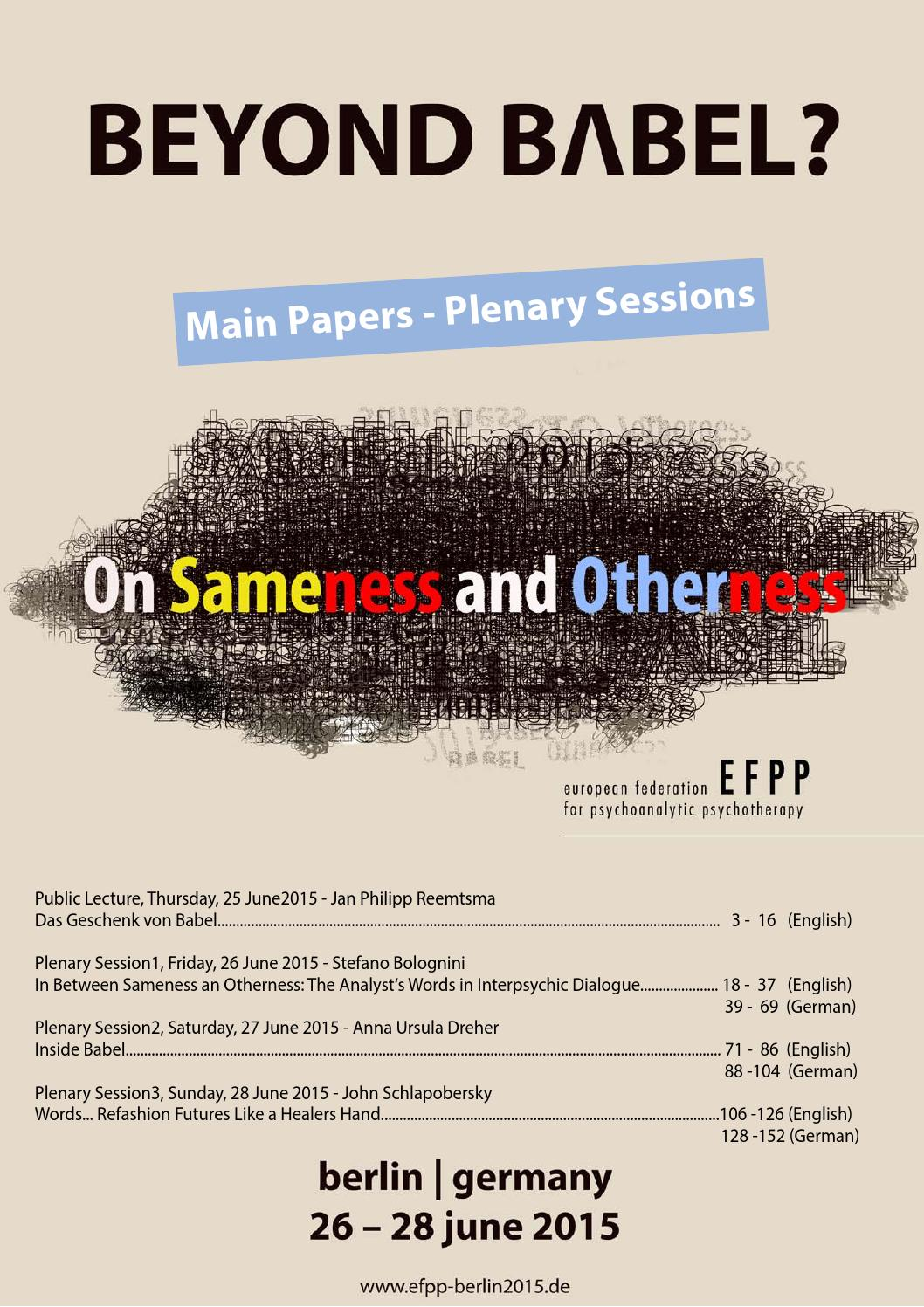 EFPP Beyond Babel 2015 Main Papers by CSi Hamburg GmbH - issuu