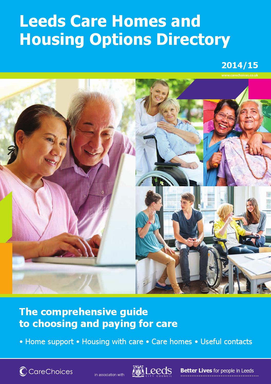 Leeds Care Homes And Housing Options Directory 2014 15 By Choices Ltd