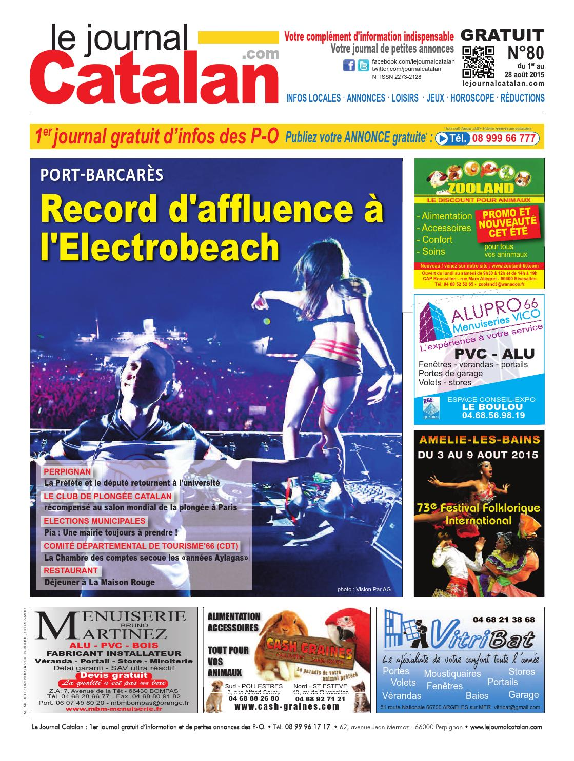 Le journal catalan n 80 pyr n es orientales record d - Reduction rue du commerce frais de port gratuit ...