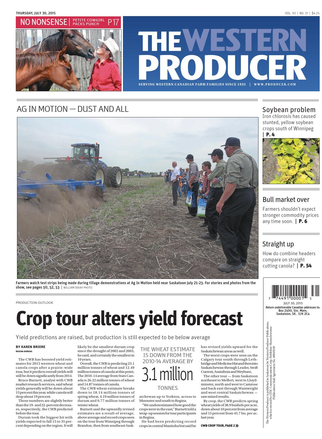 The western producer july 30, 2015 by The Western Producer