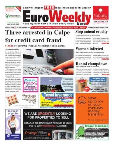 5eb0fb32 Euro Weekly News - Costa Blanca North 30 July - 5 August 2015 Issue ...