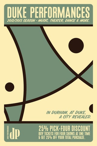 Duke Performances 201213 Brochure By Duke Performances Issuu