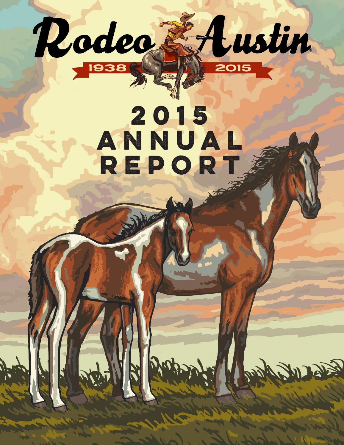 2015 Annual Report By Rodeo Austin Issuu