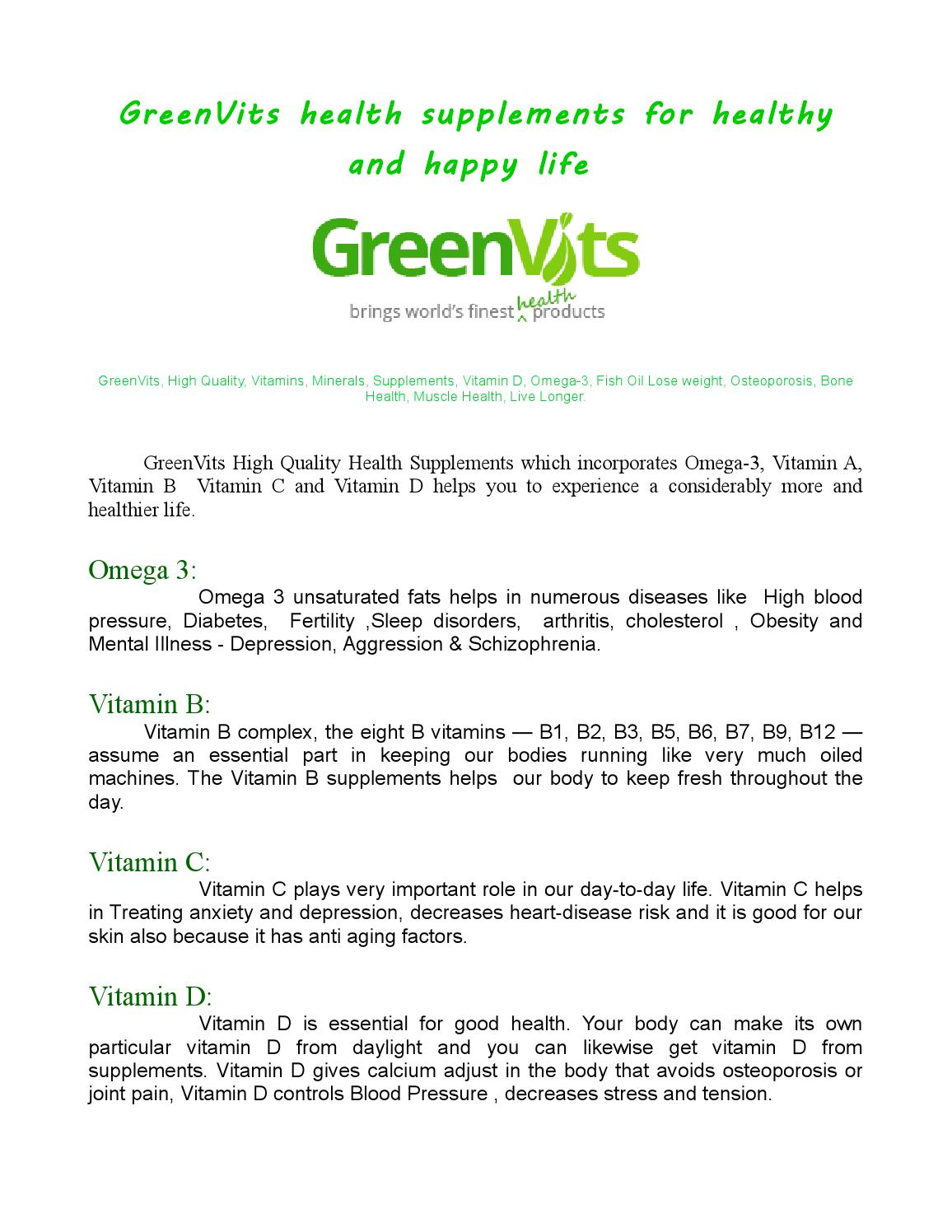 vitamin d3 supplements by greenvits - issuu