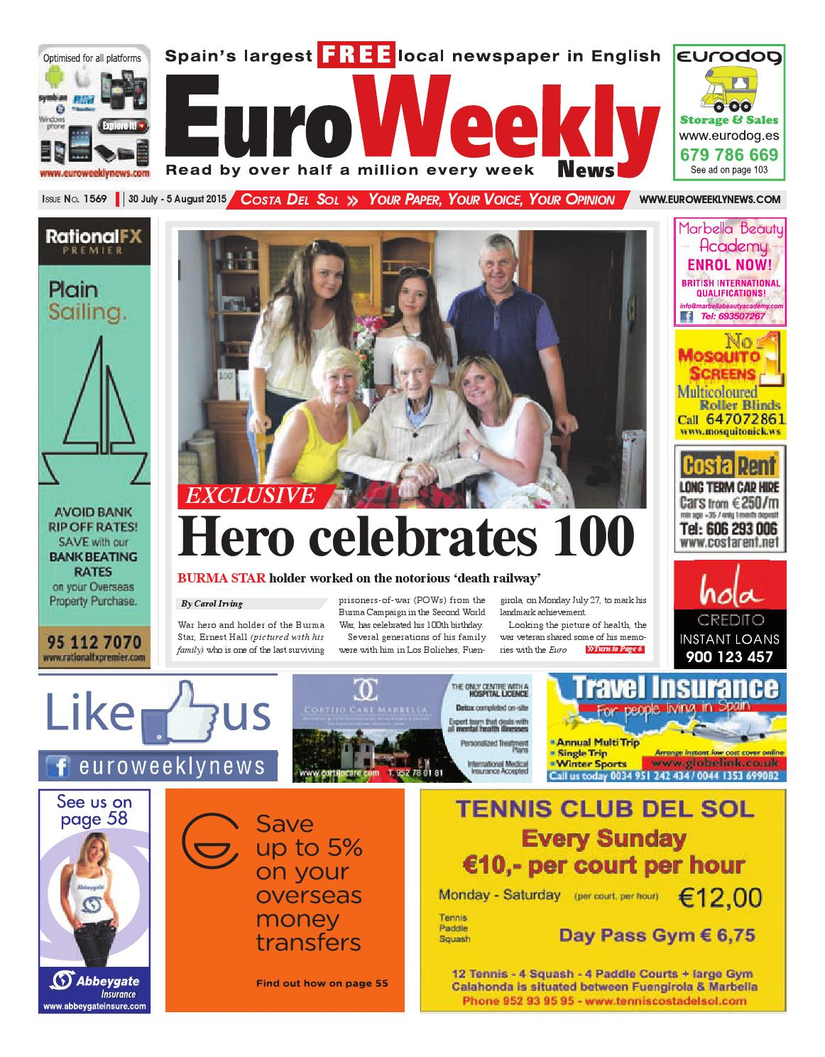 Euro Weekly News - Costa del Sol 30 July - 5 August 2015 Issue 1569