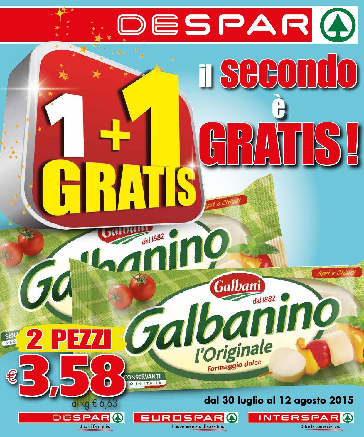 Volantino despar 30 luglio 12 agosto 2015 by despar for Volantino offerte despar messina