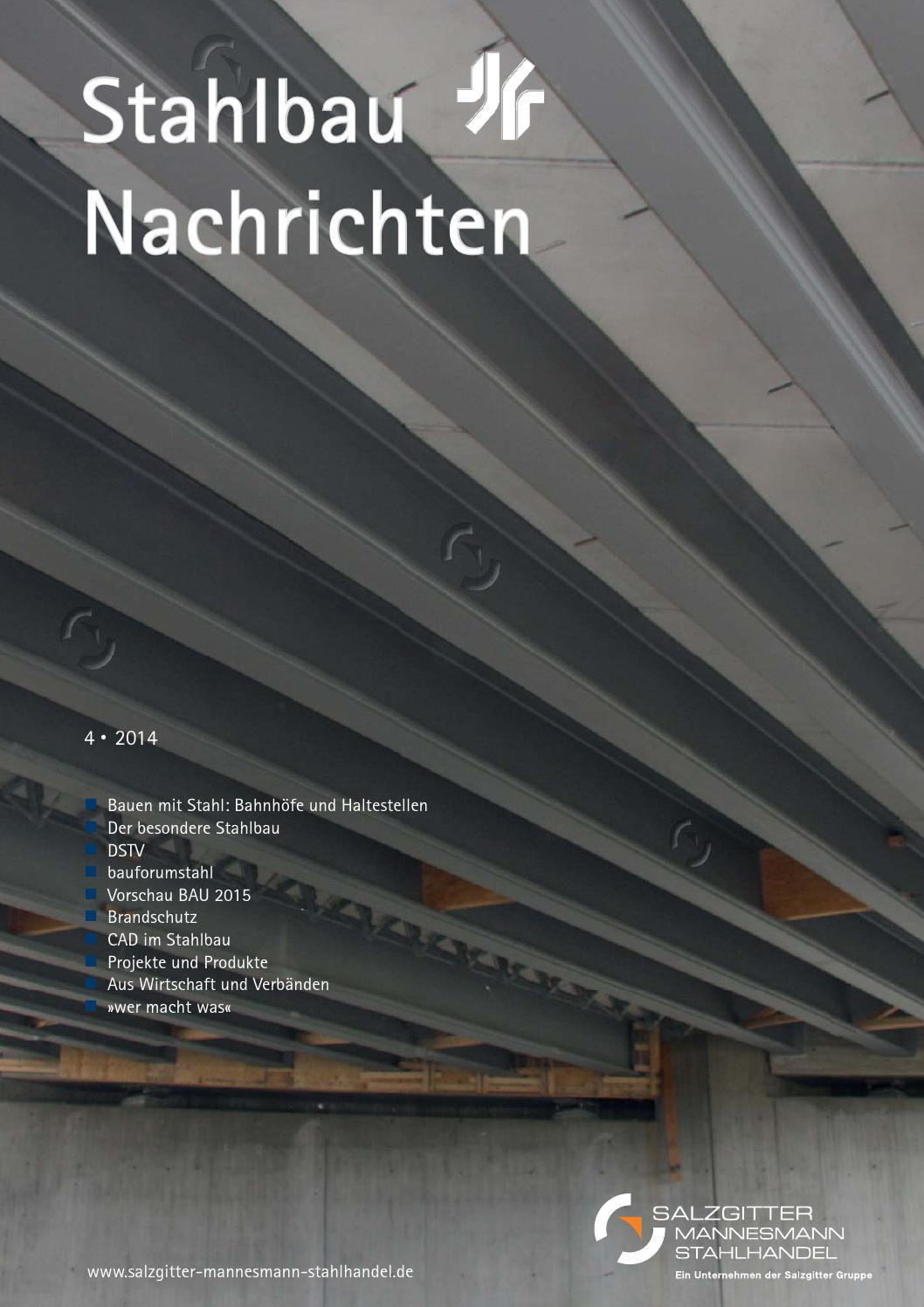 Stahlbau Nachrichten 4/2014 By Verlagsgruppe Wiederspahn   Issuu