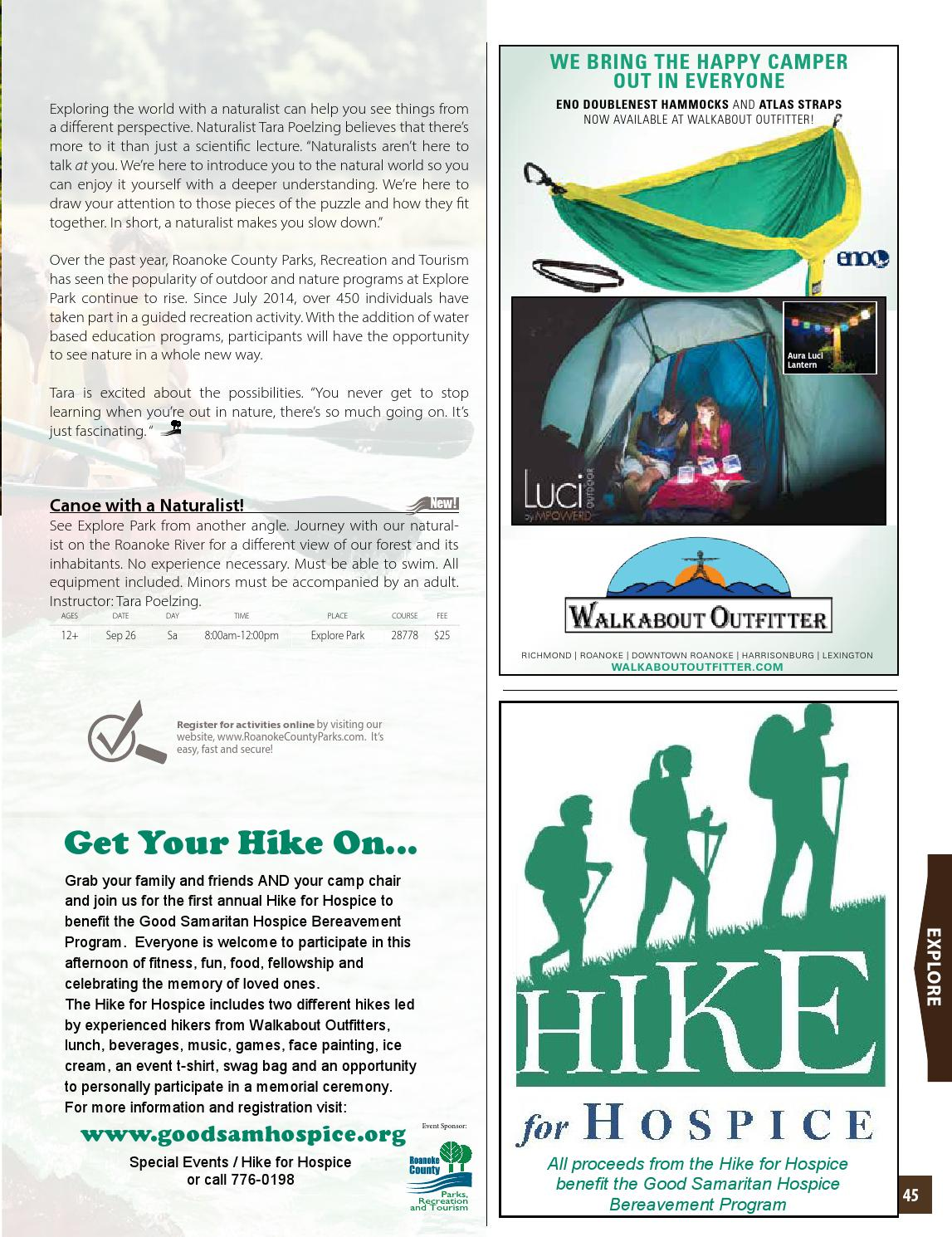 3aed32e16b6 Explore Recreation - Fall 2015 by Roanoke County Parks