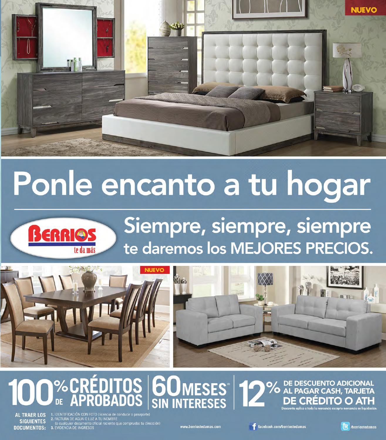 Mueblerias Berrios Shopper | Ponle Encanto A Tu Hogar By Berrios   Issuu