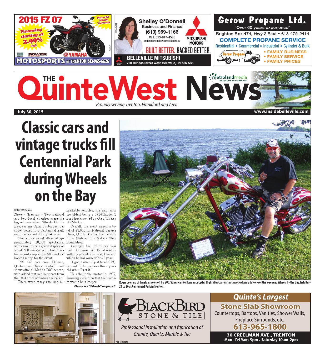 Quinte073015 by Metroland East - Quinte West News - issuu