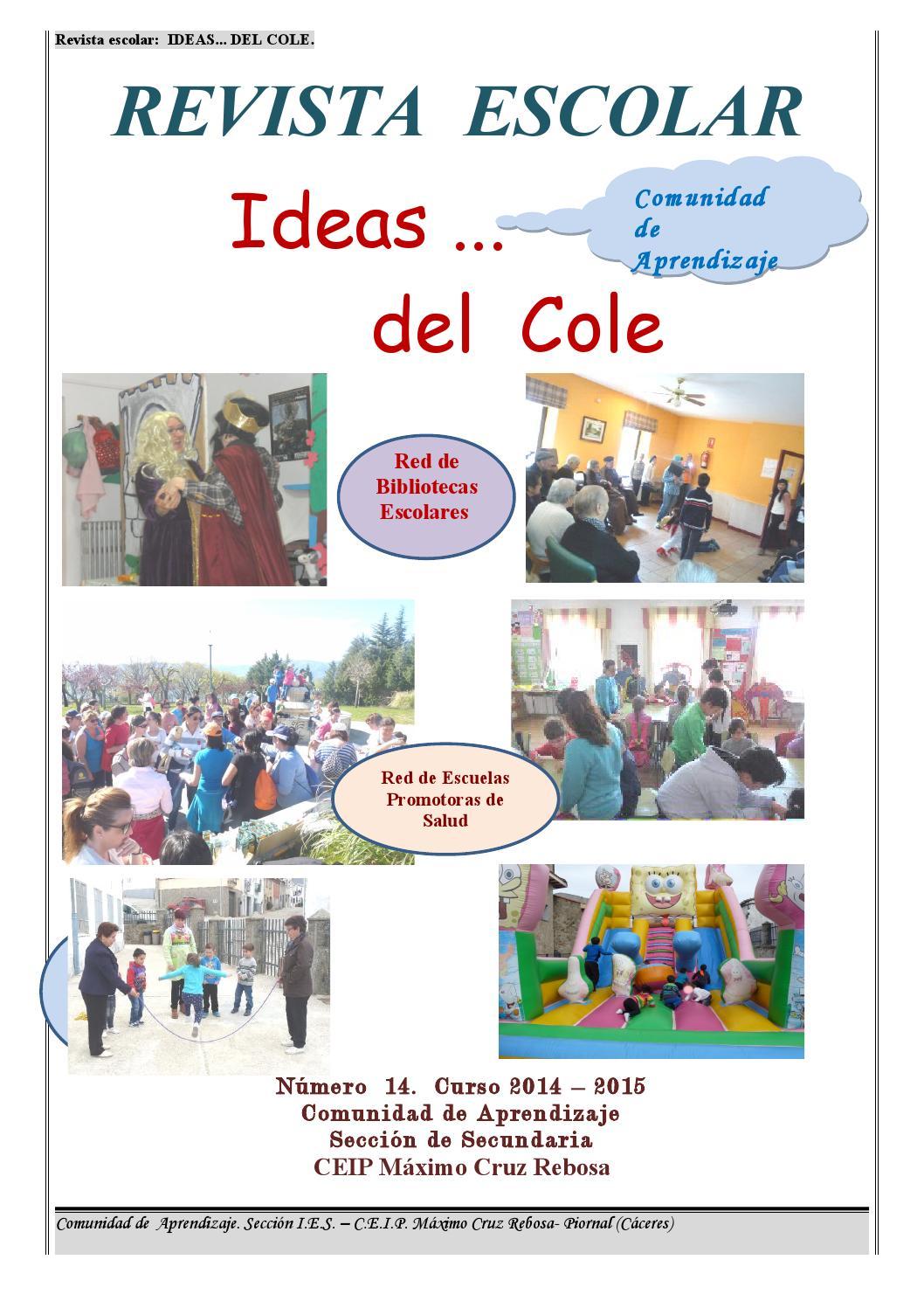 Revista Escolar Piornal Ideas Del Cole2ª Parte By Ana Mª