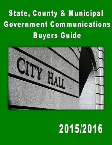 State, County & Municipal Government Communications Buyers