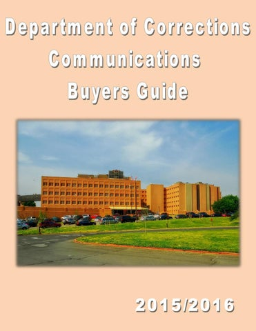 24629429145 Department of Corrections Communications Buyers Guide ď ˇ 2015 2016  Broadband Technology Corp Nashville