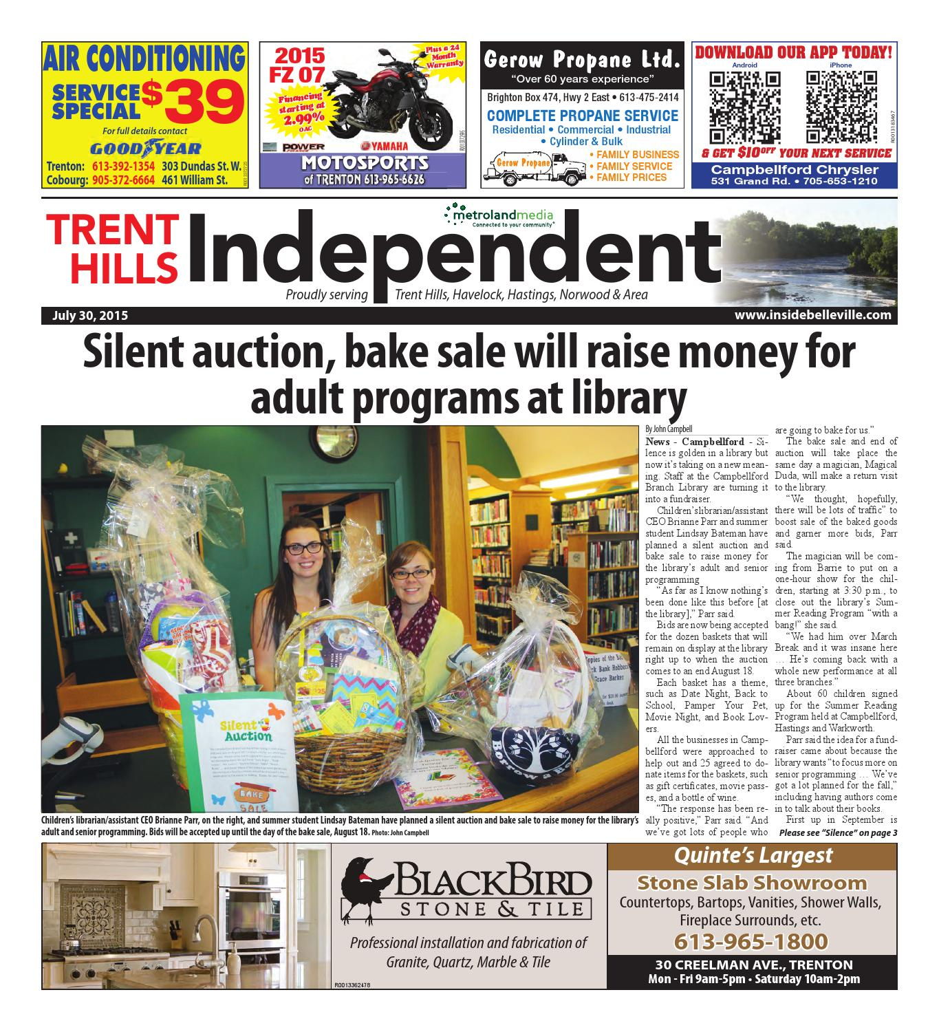 Trenthills073015 by Metroland East - Trent Hills Independent - issuu