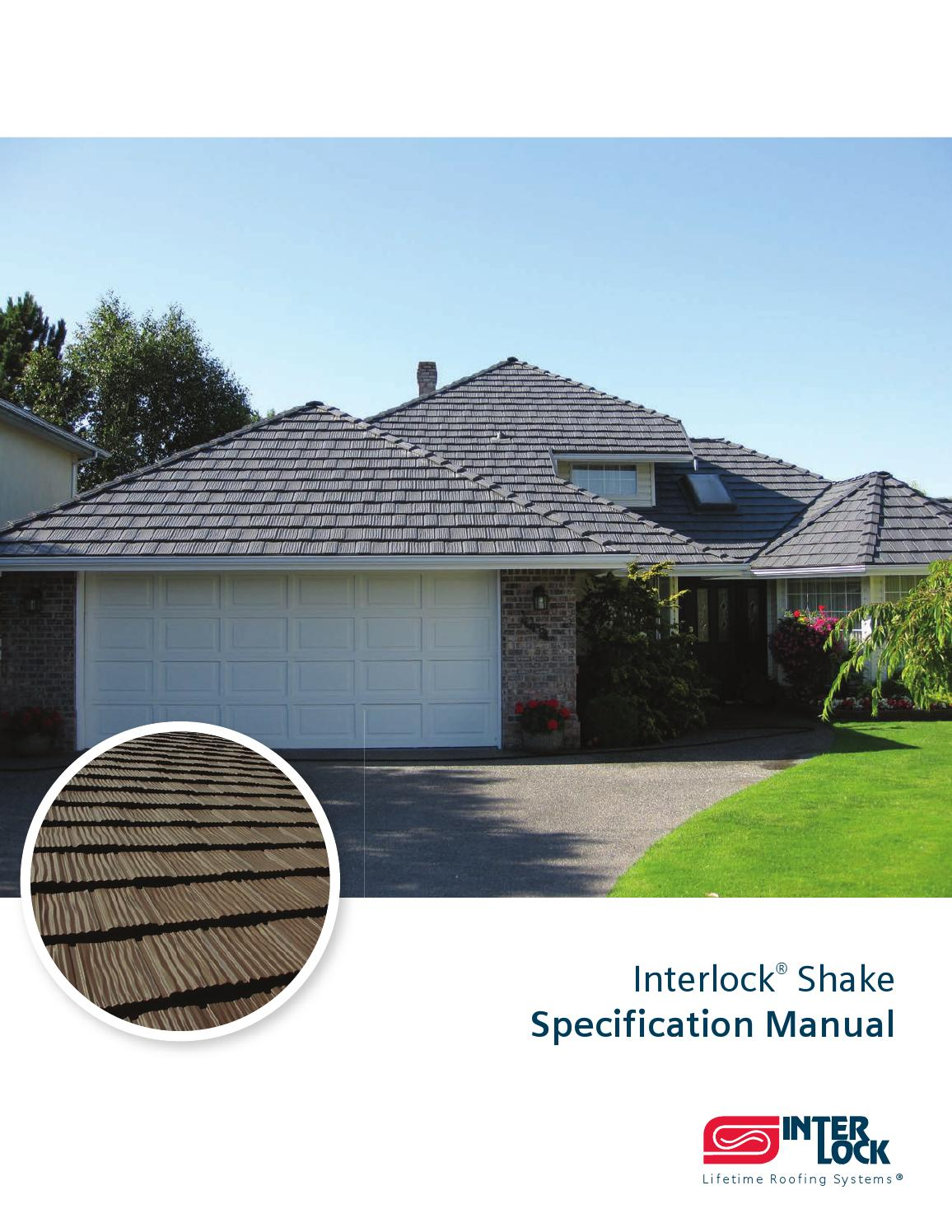Interlock 174 Shake Spec Manual By Interlock Metal Roofing