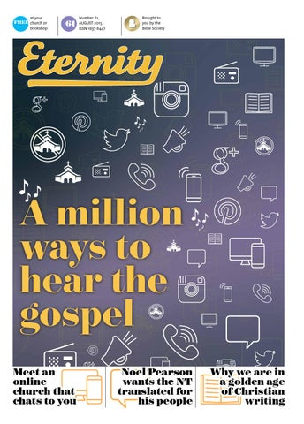 Eternity August 2015 Issue 61 By Bible Society Australia Issuu
