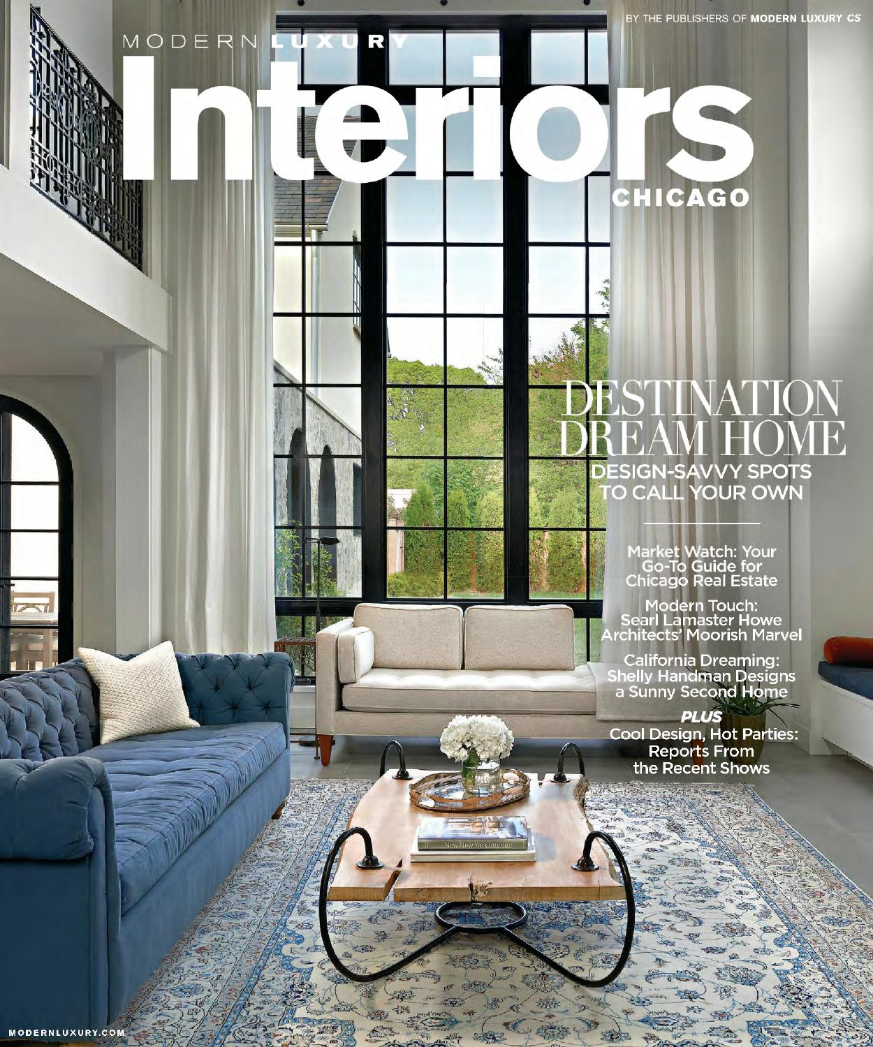 Modern Luxury Interiors: Modern Luxury Interiors Chicago Summer 2015 By Coupon
