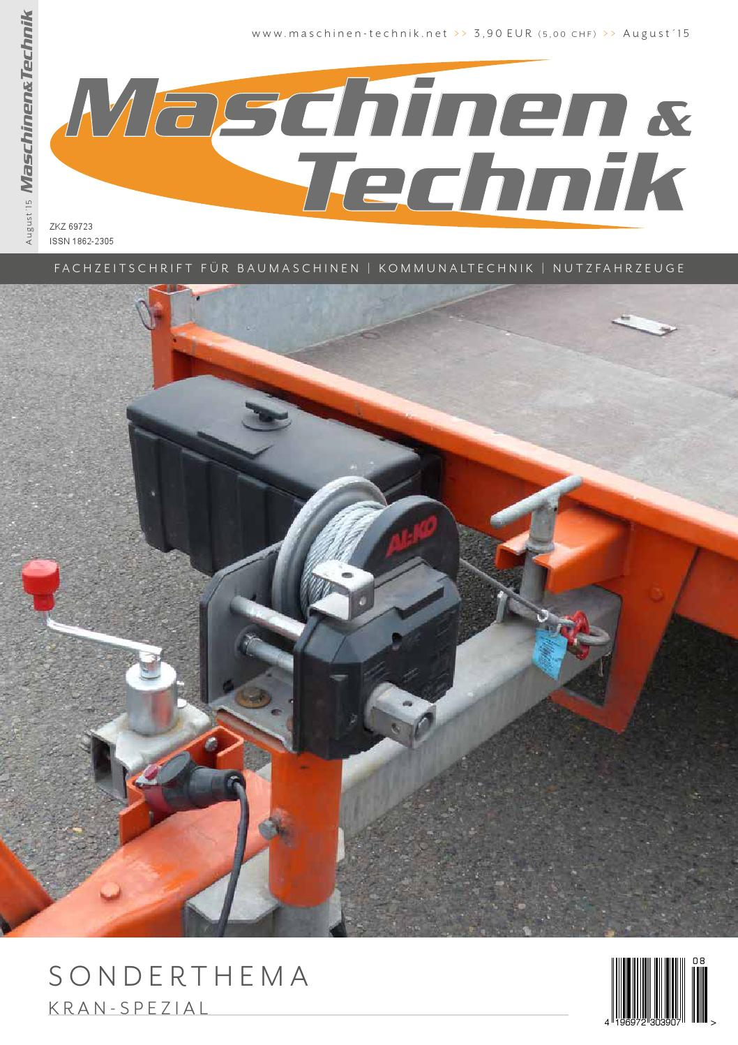 Maschinen & Technik | August 2015 by TB Verlag - issuu