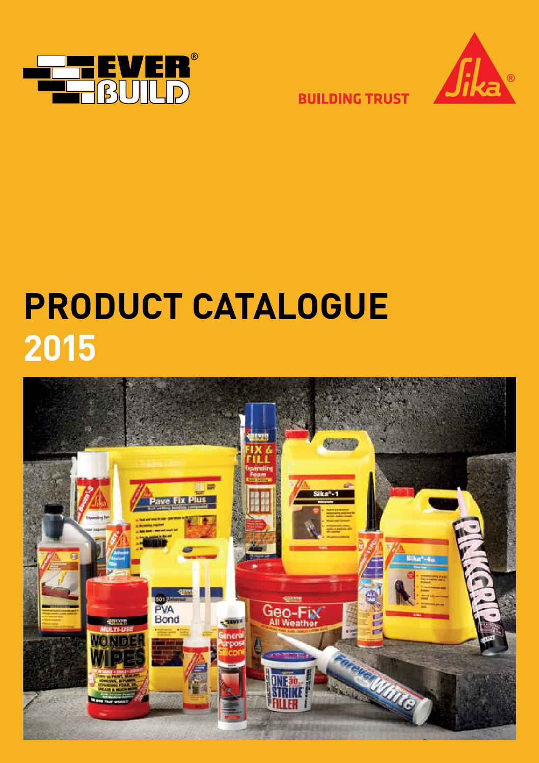 Everbuild Sika The Ultimate Catalogue 2015 By Sika