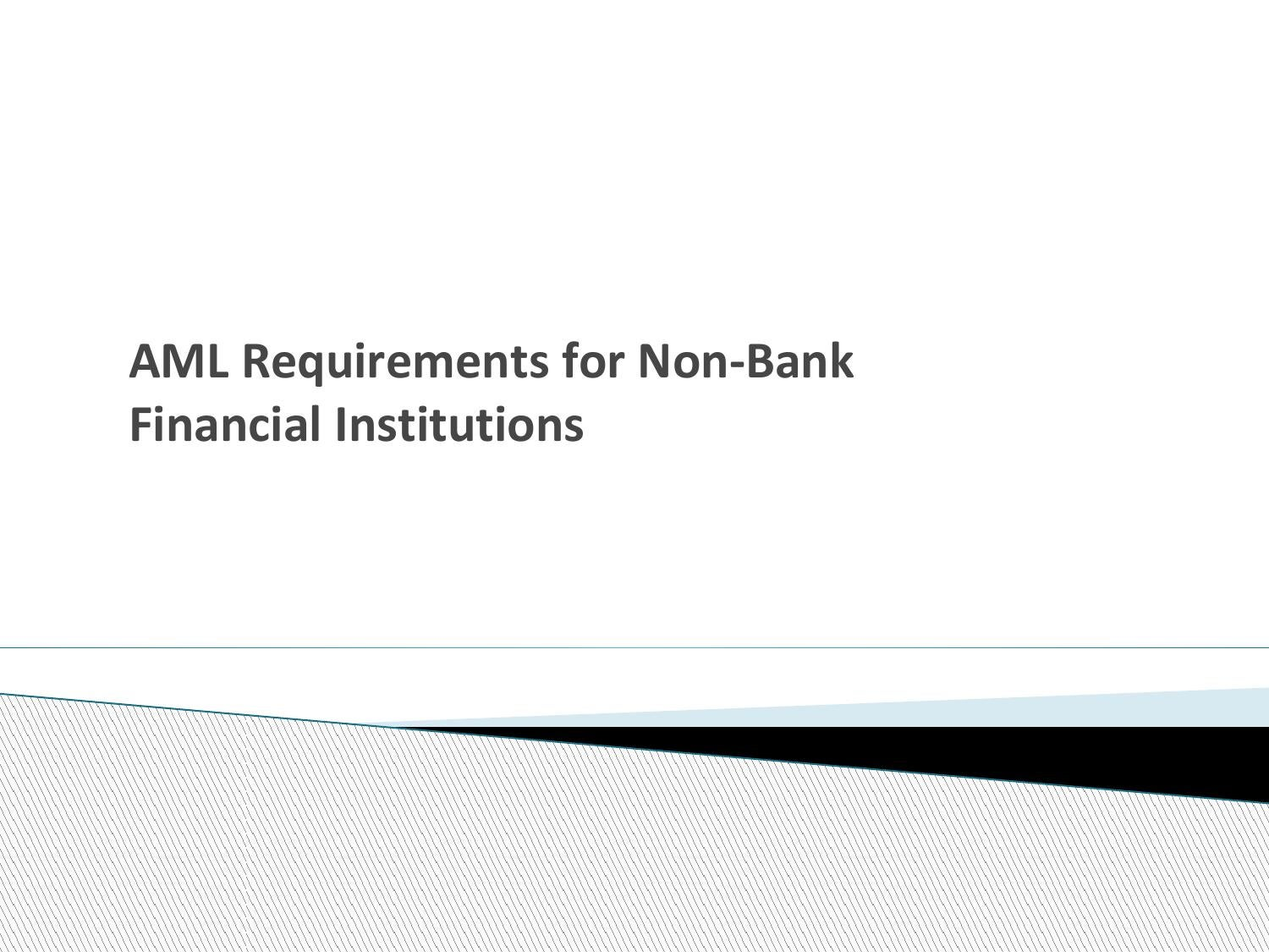 Vehicle Registration Ca >> Aml non bank finanacial institutions by compliance online ...