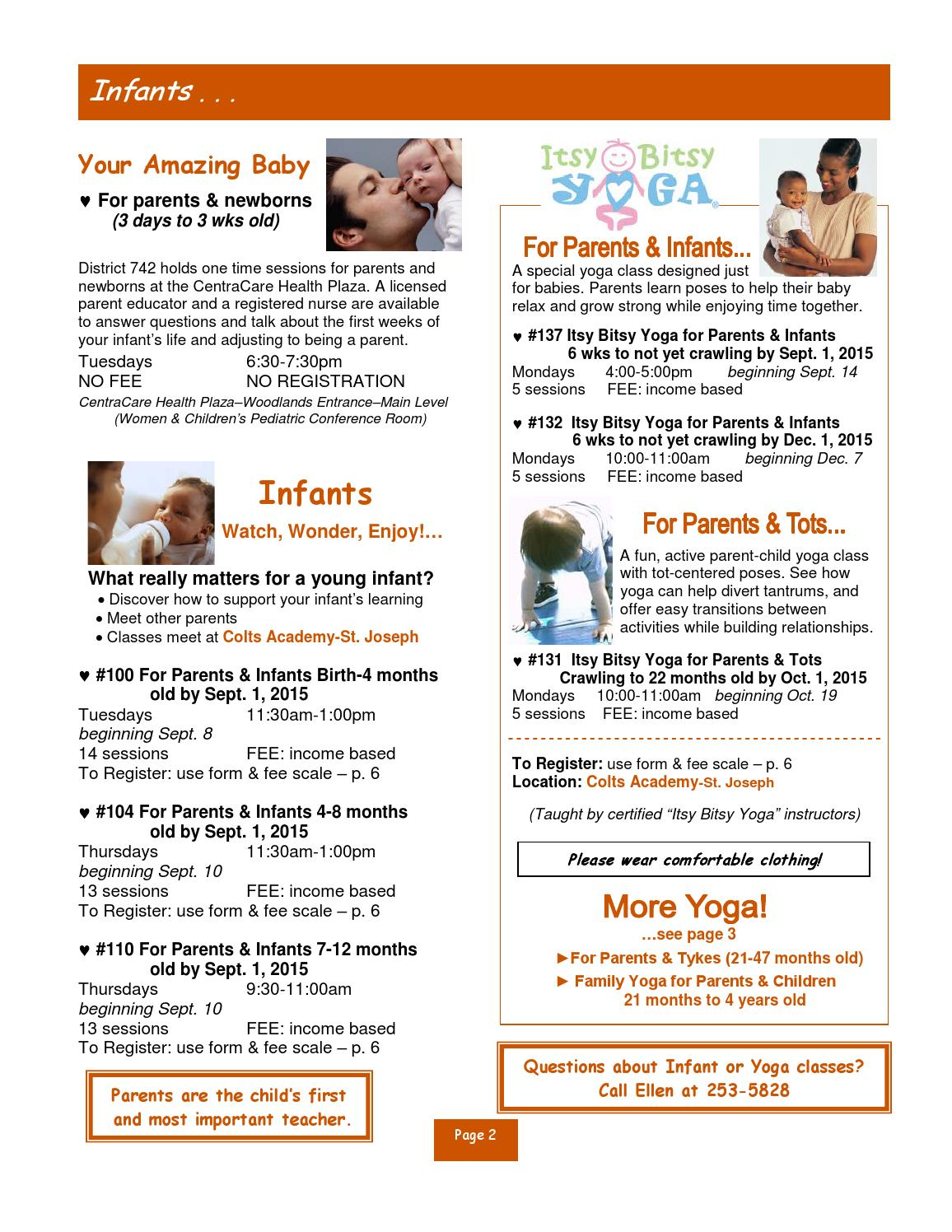 Early Childhood Family Education Catalog by St  Cloud Area