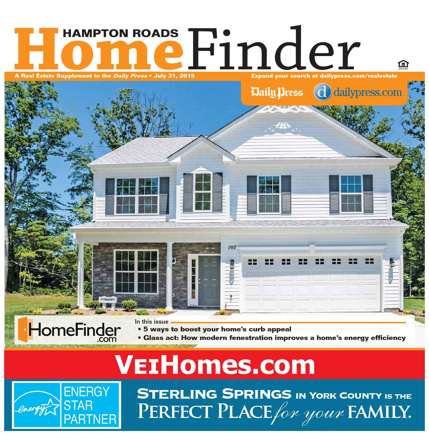 Home Finder For Rent: July 31, 2015 By Daily Press Media Group