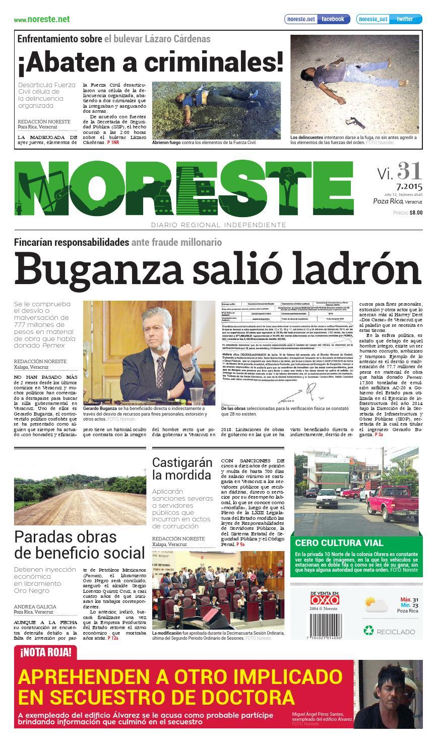 Versi N Impresa 31 De Julio De 2015 By Noreste Diario Regional