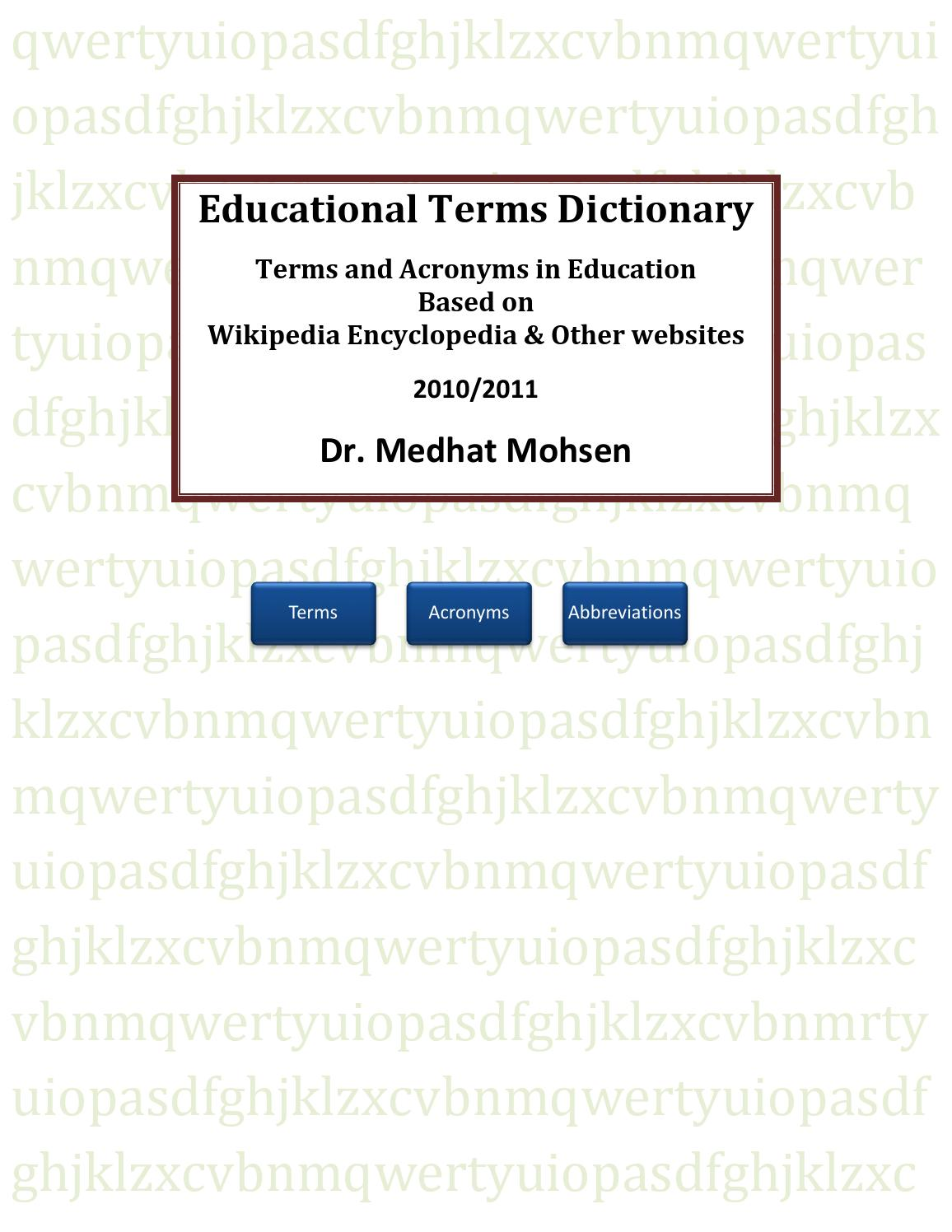 Explanatory dictionaries and abbreviations dictionaries: a selection of sites