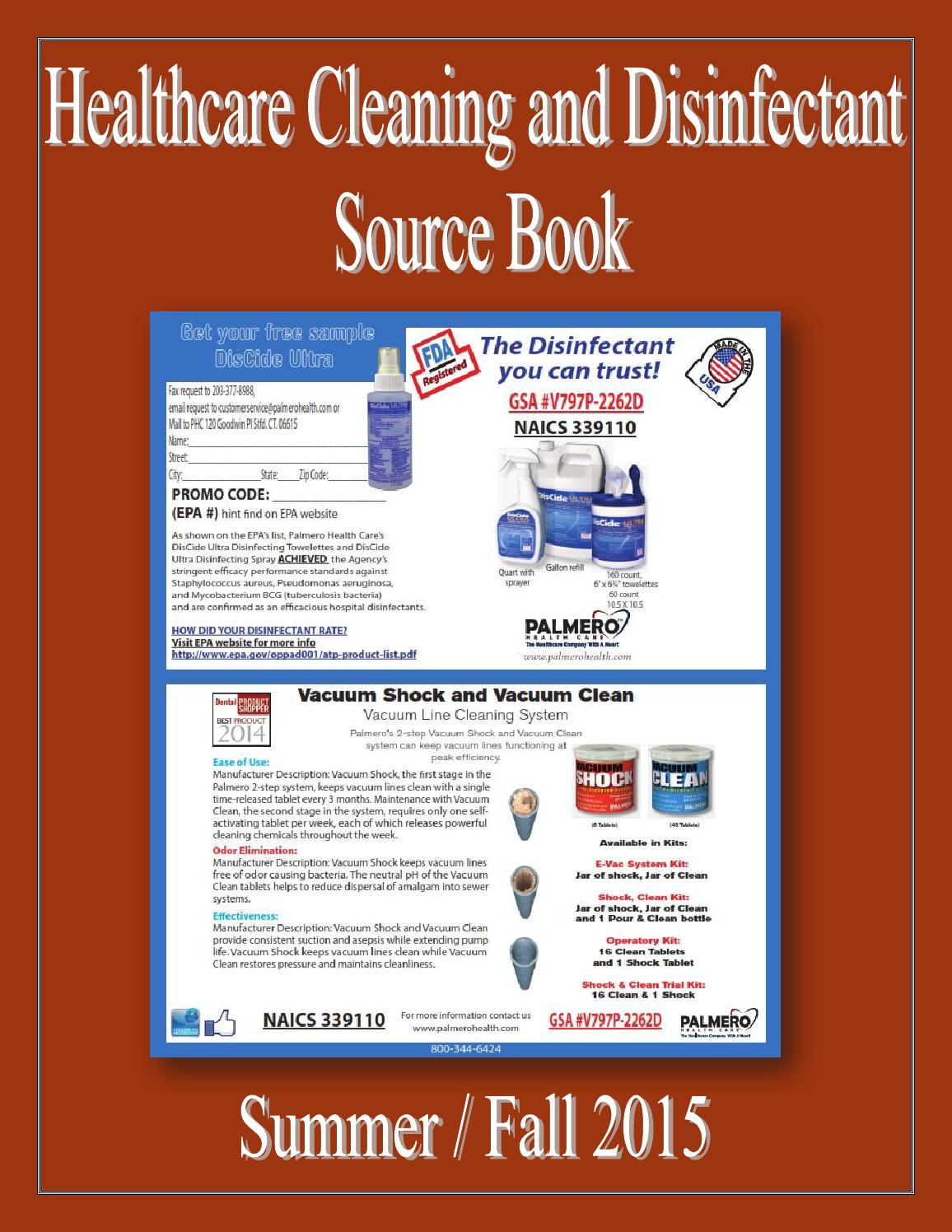Healthcare Cleaning And Disinfectant Source Book By