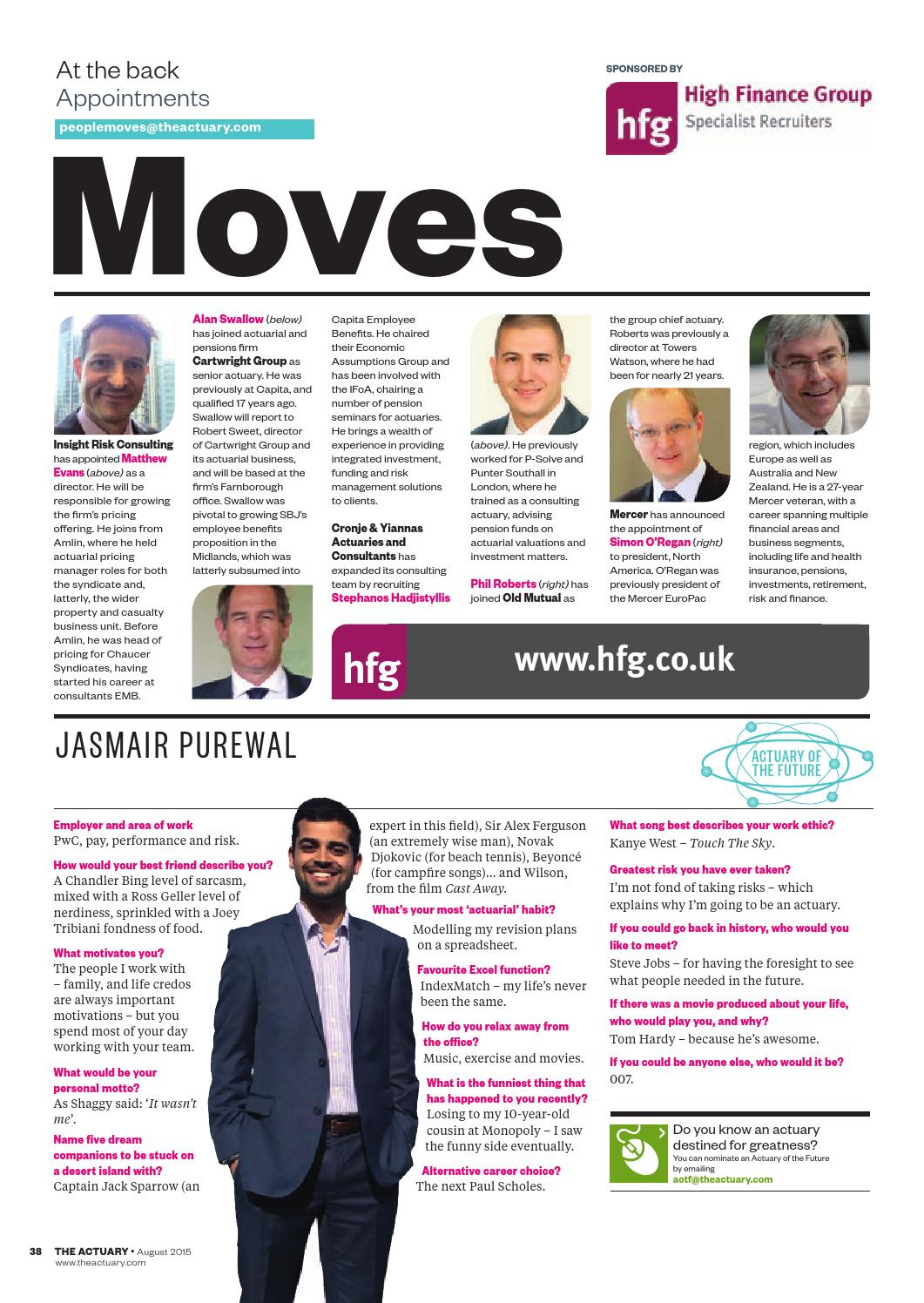 The Actuary August 2015 by Redactive Media Group - issuu