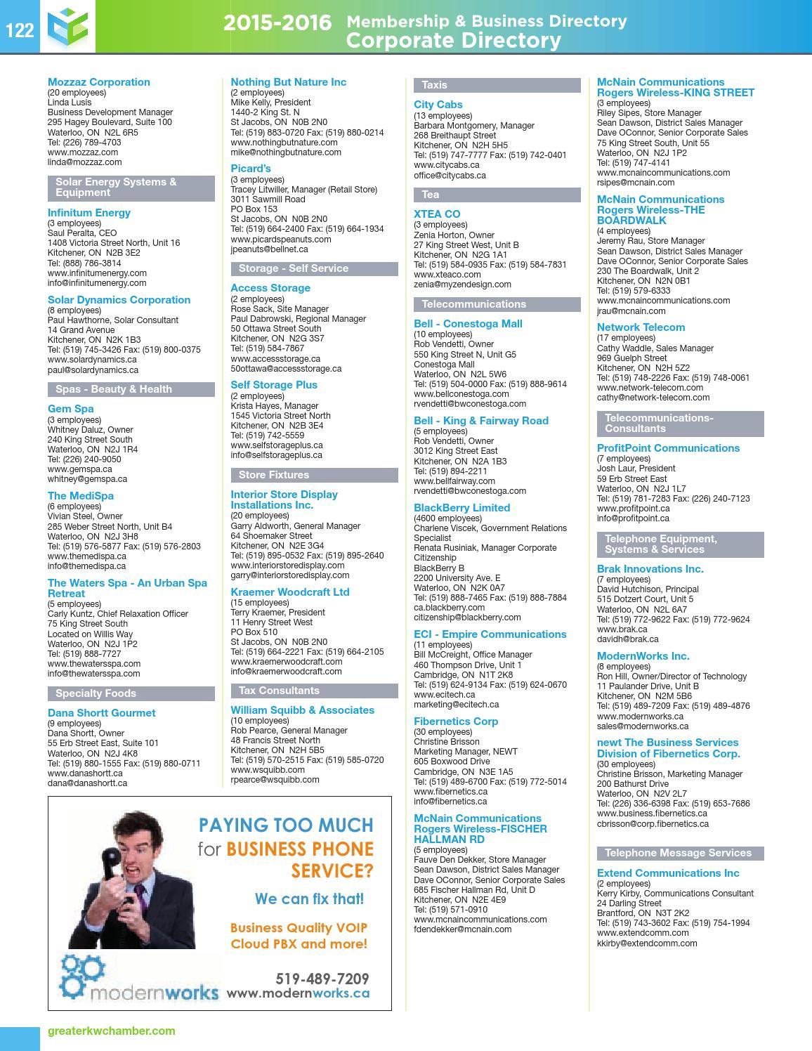 2015-16 Membership & Business Directory by Natalie Hemmerich
