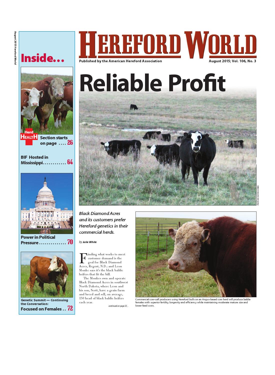 August 2015 Hereford World by American Hereford Association and Hereford  World - issuu b2ea1c06fbae