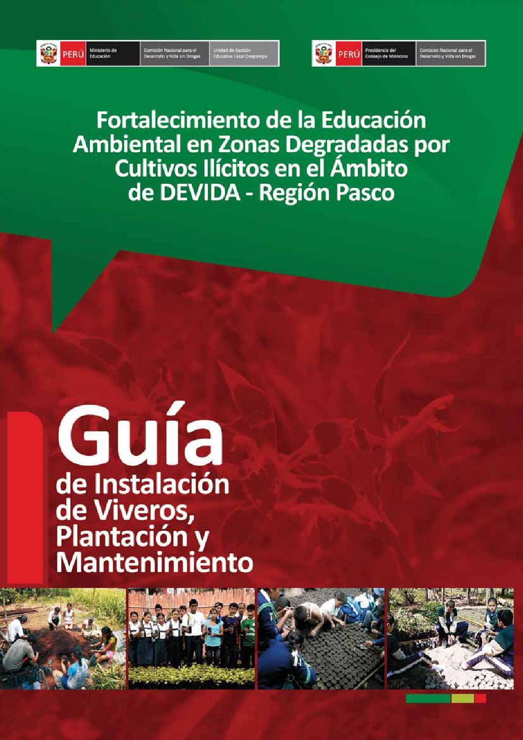 Gu a instalaci n de viveros pdf ligero by prea pasco issuu for Partes de un vivero forestal