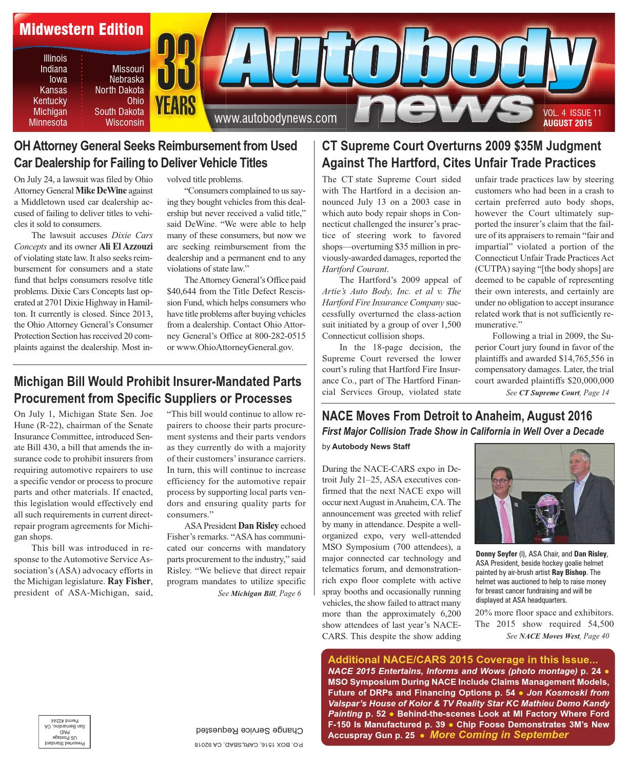 Midwestern August 2015 Issue by Autobody News - issuu